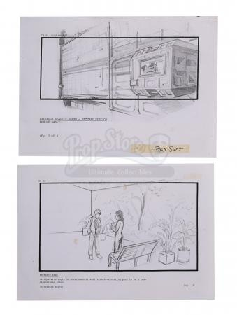 Lot #16 - ALIENS (1986) - Two Pencil Storyboards Featuring Ripley (Sigourney Weaver) and Burke (Paul Reiser)