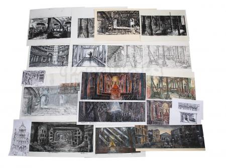 Lot #40 - ANGELS & DEMONS (2009) - Collection of Allan Cameron Hand-painted and Printed Rome and Vatican City Concepts