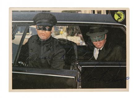 Lot #148 - THE GREEN HORNET (TV SERIES, 1966-67) - Bruce Lee and Van Williams Autographed Card