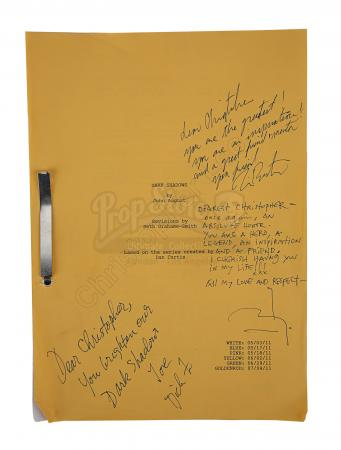 Lot #199 - DARK SHADOWS (2012) - Sir Christopher Lee Personal Cast-autographed Shooting Script