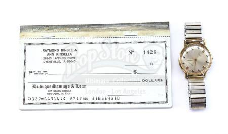 Lot #241 - FIELD OF DREAMS (1989) - Kinsella Family Checkbook with Terence Mann's (James Earl Jones) Watch