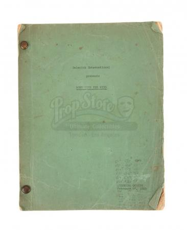 Lot #304 - GONE WITH THE WIND (1939) - Production-Used Script