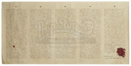 Lot #340 - THE HUNGER GAMES (2012) - Treaty of Treason Scroll