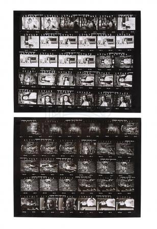 Lot #387 - JAMES BOND: LIVE AND LET DIE (1973) - Pair of Contact Sheets Featuring Solitaire (Jane Seymour) and Dr. Kananga (Yaphet Kotto)