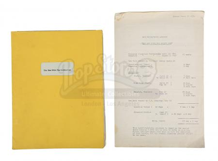 Lot #389 - JAMES BOND: THE MAN WITH THE GOLDEN GUN (1974) - Sir Christopher Lee's Personal Annotated First Draft Script