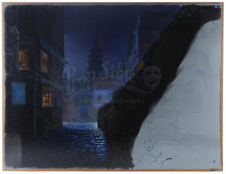 Lot #412 - JANET JACKSON: IF (1993) - Matthew Yuricich Opening Shot Street View Matte Painting