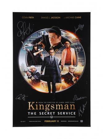 Lot #447 - KINGSMAN: THE SECRET SERVICE (2014) - Cast Autographed One-Sheet Poster