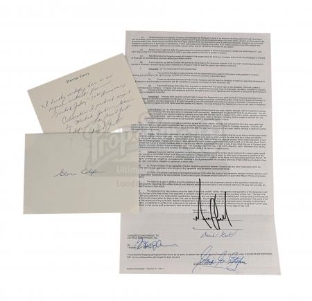 Lot #496 - MICHAEL JACKSON: 30TH ANNIVERSARY CELEBRATION (TV, 2001) - Contract Signed by Michael Jackson, David Gest and Gloria Estefan