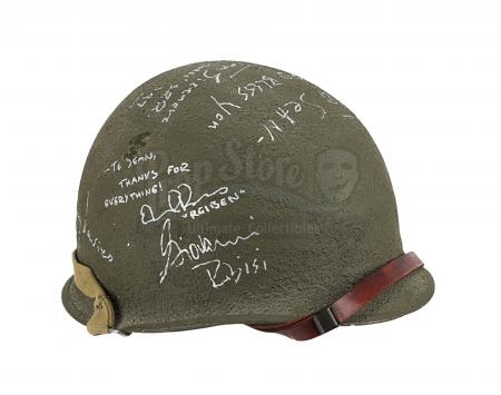 Lot #601 - SAVING PRIVATE RYAN (1998) - Sergeant Horvath's (Tom Sizemore) Cast Autographed Helmet and Photo