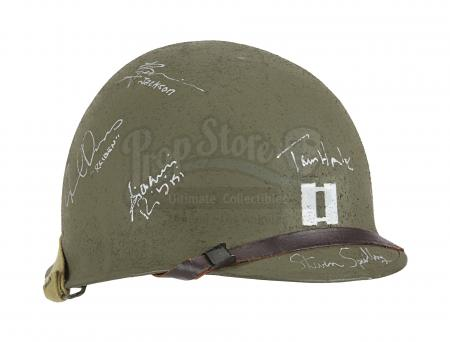 Lot #602 - SAVING PRIVATE RYAN (1998) - Captain Miller's (Tom Hanks) Cast-autographed Hero Helmet