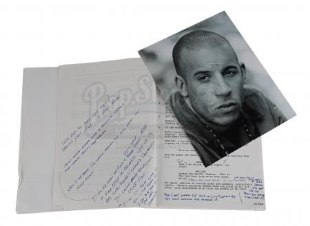 Lot #603 - SAVING PRIVATE RYAN (1998) - Vin Diesel's Personal Annotated Script and Photo