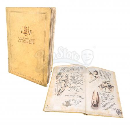 "Lot #41 - ANGELS & DEMONS (2009) - Ancient Vatican ""Bernini"" Ledger"