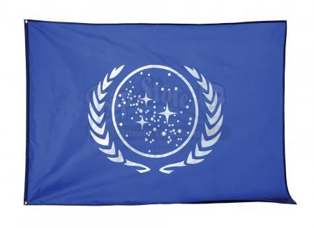 Lot #655 - STAR TREK: GENERATIONS (1994) - United Federation of Planets Flag