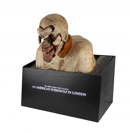 "Lot #39 - AN AMERICAN WEREWOLF IN LONDON (1981) - Rick Baker SFX ""Change-O"" Mechanical Werewolf Transformation Bust"