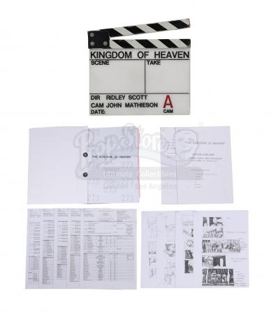 Lot #445 - KINGDOM OF HEAVEN (2005) - Clapperboard, Shooting Script, Storyboards, Call Sheets and Memos