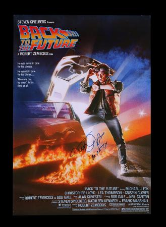 Lot #2 - BACK TO THE FUTURE (1985) - Commercial One-Sheet Autographed by Michael J. Fox, 1985