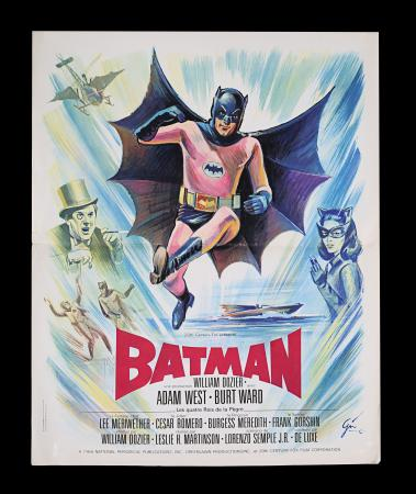 Lot #36 - BATMAN: THE MOVIE (1966) - French 'Petite' Affiche, 1966