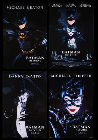 Lot #38 - BATMAN RETURNS (1992) - Group of Four US One-Sheets, 1992