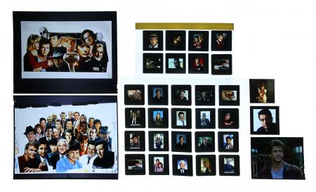 Lot #143 - HOLLYWOOD STAR MONTAGES - FEREF ARCHIVE: Hollywood Star Montage Transparencies and Slides