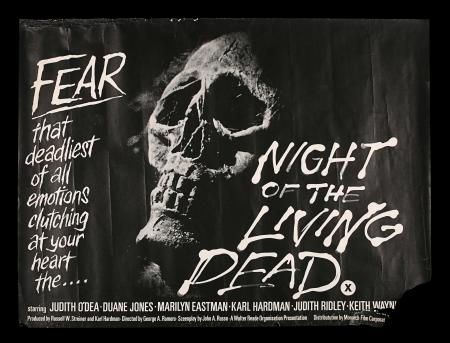 Lot #291 - NIGHT OF THE LIVING DEAD (1968) - FEREF ARCHIVE: UK Quad, 1968